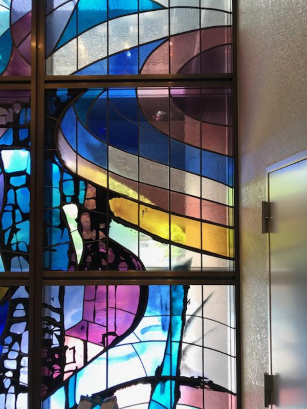 千葉県内某大学図書館ステンドグラスの修復