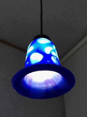 パートドヴェール、ランプ、ブルー